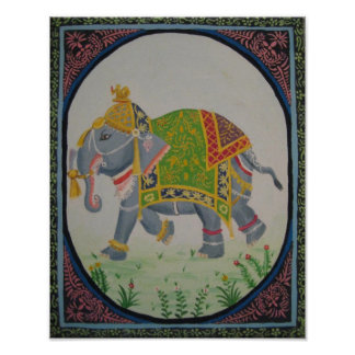 indian Elephant painting Poster