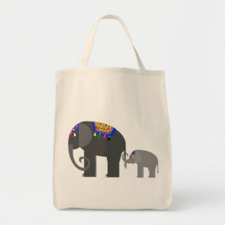 Indian Elephant Plus One Tote Bag