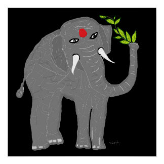 Indian Elephant Poster
