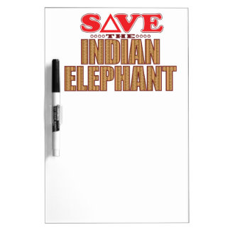Indian Elephant Save Dry-Erase Board