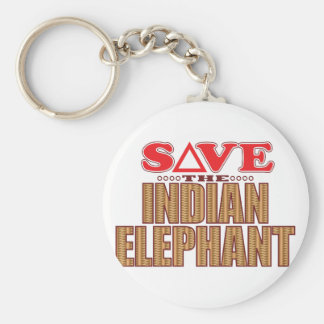 Indian Elephant Save Keychain