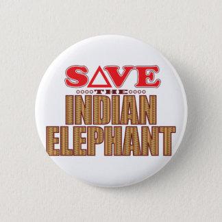 Indian Elephant Save Pinback Button