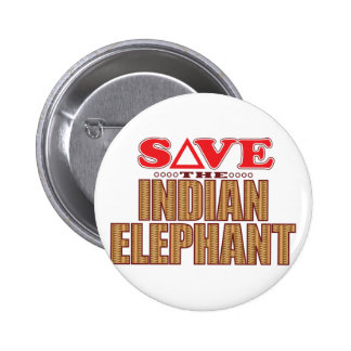 Indian Elephant Save Pinback Button
