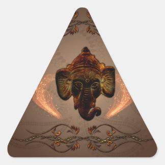 Indian elephant triangle sticker