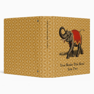 Indian Elephant w/Red Cloth Binder