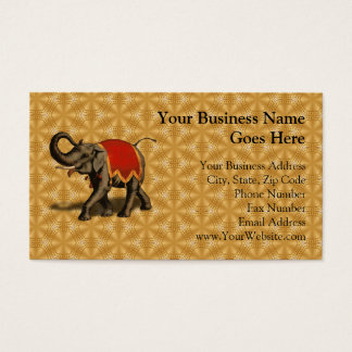 Indian Elephant w/Red Cloth Business Card