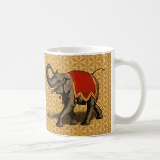 Indian Elephant w/Red Cloth Coffee Mug