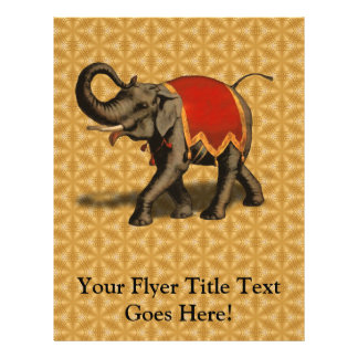 Indian Elephant w/Red Cloth Flyer