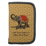 Indian Elephant w/Red Cloth Folio Planner