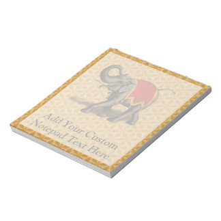 Indian Elephant w/Red Cloth Notepad