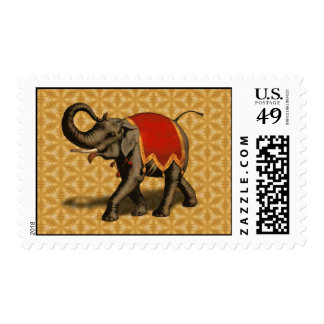Indian Elephant w/Red Cloth Postage