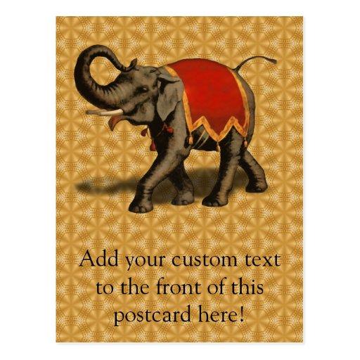 Indian Elephant w/Red Cloth Postcard
