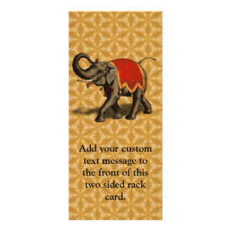 Indian Elephant w/Red Cloth Rack Card