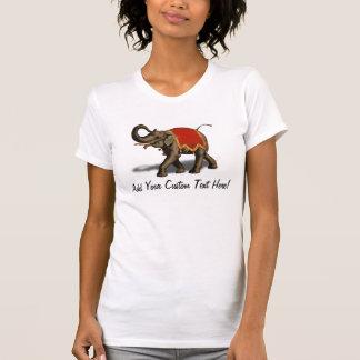 Indian Elephant w/Red Cloth Shirt
