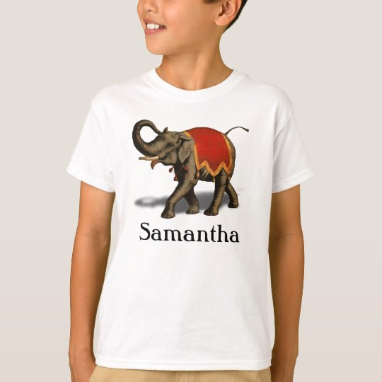 Indian Elephant w/Red Cloth T-Shirt