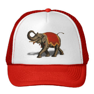 Indian Elephant w/Red Cloth Trucker Hat