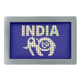 Indian Elephant with Calf Belt Buckles