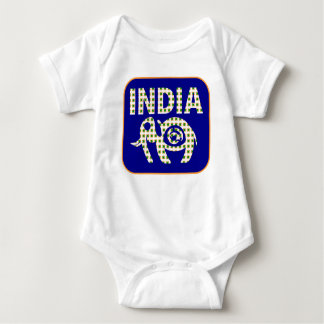 Indian Elephant with Calf Poster Baby Bodysuit