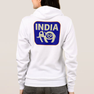 Indian Elephant with Calf Poster Hoodie