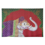 Indian elephants American MoJo Placemat Cloth Placemat