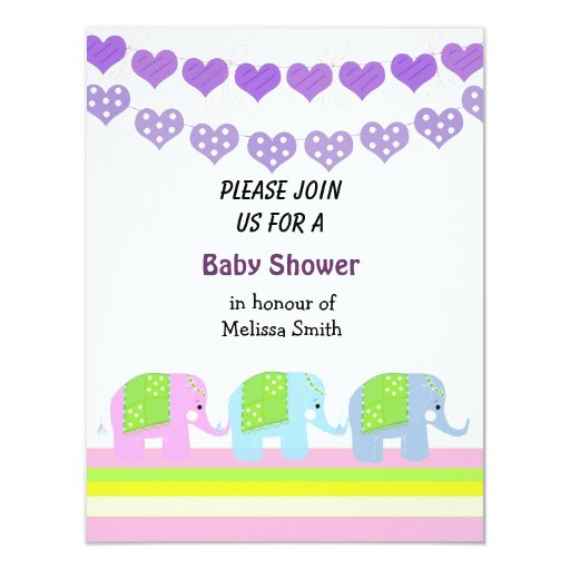 Indian Elephants Baby Shower Invitation | Zazzle