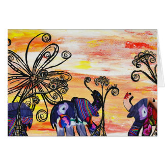 Indian Elephants Card
