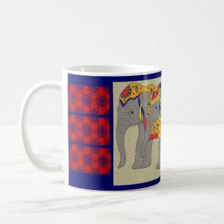 Indian Elephants Classic White Coffee Mug