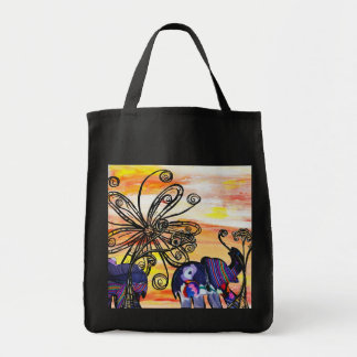 Indian Elephants Grocery Tote Grocery Tote Bag