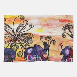 Indian Elephants Kitchen Towel