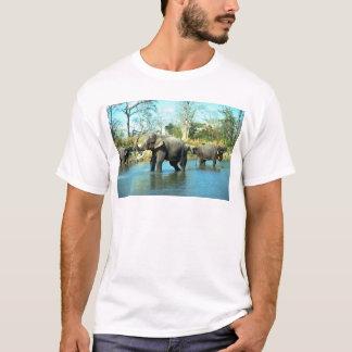 Indian Elephants mud bathing T-Shirt