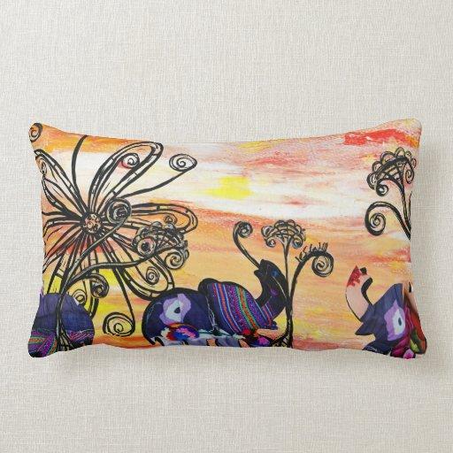Indian Elephants Pillow
