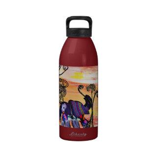 Indian Elephants Water Bottle