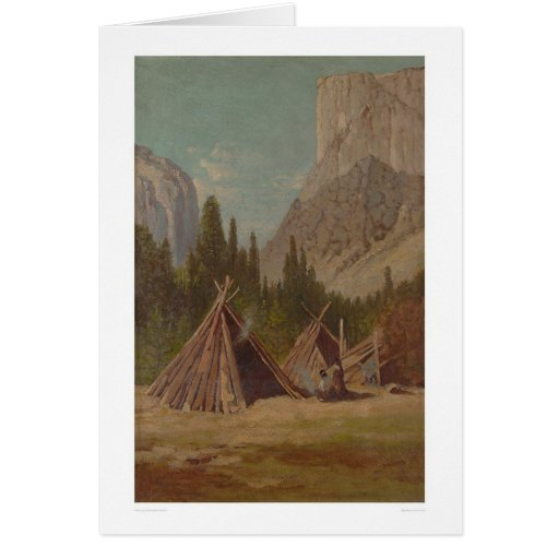 Indian Encampment in Yosemite Valley (1189) Greeting Card