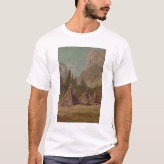 Indian Encampment in Yosemite Valley (1189) T-Shirt
