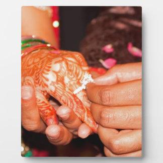 Indian engagement photo plaques