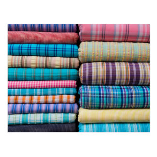 Indian Fabric Textile for Sale at Market Postcard