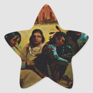 Indian family values star sticker