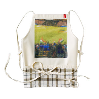Indian fans at a cricket match zazzle HEART apron