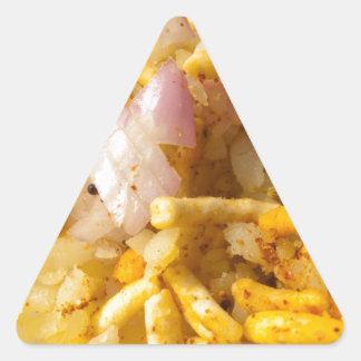 Indian fast food item triangle sticker