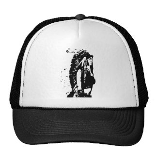 indian feather trucker hat
