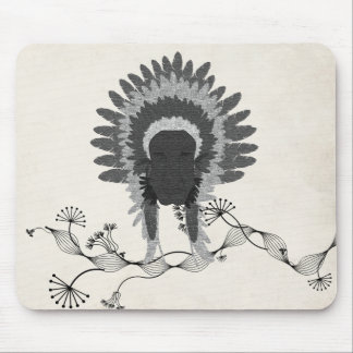indian feathers face mask mousepad