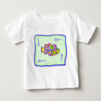 Indian Fish Quilt Baby T-Shirt