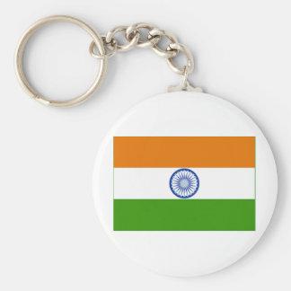 Indian Flag Basic Round Button Keychain