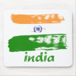 Indian Flag brush stroke design Mouse Pad