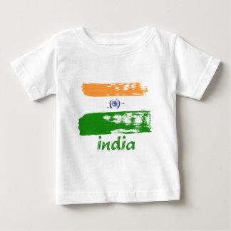 Indian Flag brush stroke design T Shirt