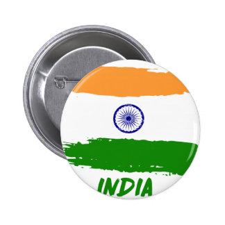 Indian flag designs button