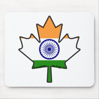 Indian Flag in Canadian Maple Leaf Items Mouse Pad