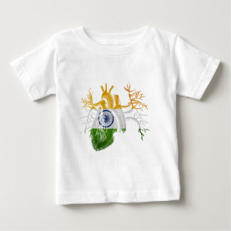 Indian Flag in Real Heart Shirt