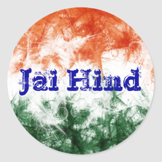 Indian Flag Jai Hind Stickers
