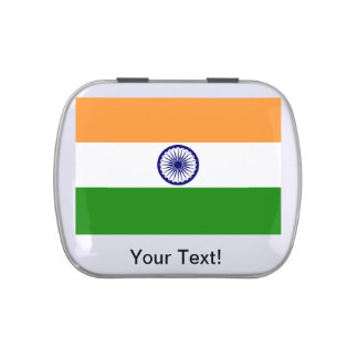 Indian Flag Jelly Belly Tin